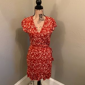 Mossimo Supple Co. orange dress w/ flower print